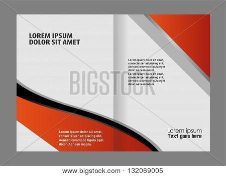 Brochure template folder leaflet. Empty bi-fold brochure template design