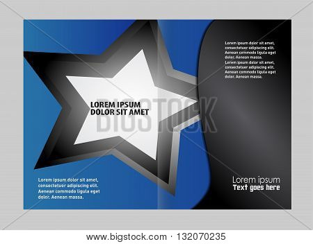 Business brochure Flyer Template. Colorful Bi-Fold Brochure Design. Corporate Leaflet, Cover Template