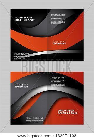 Bi fold business brochure vector template. Professional business brochure design