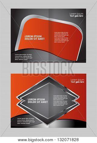 modern vector brochure. Bi-Fold Corporate Business Store Mock up & Brochure Design