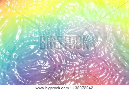 An abstract background with a beautiful of colorful ripples in a liquid.