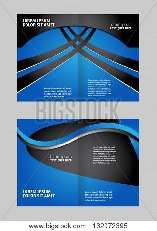 Professional business flyer template. Bi fold business brochure vector template