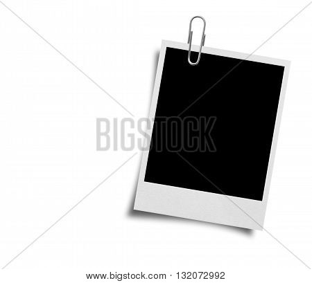 Old photo frames isolated on white background