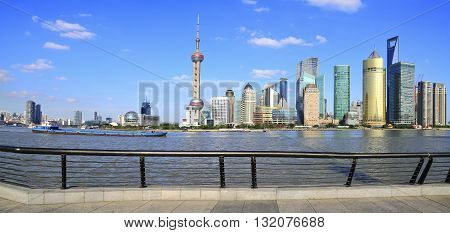 Shanghai Bund Skyline Of  Panoramic