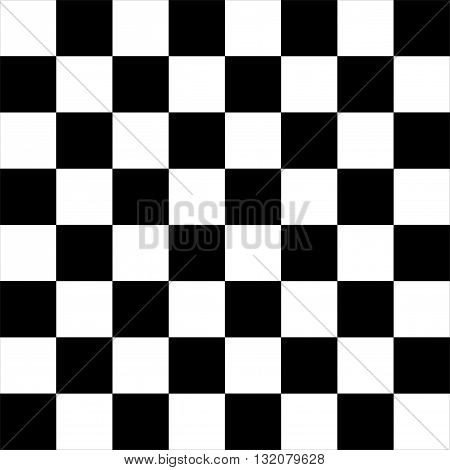 Vector modern empty chess board background. Ready layout for your design.