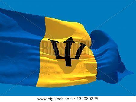 Barbados wave flag HD island country Bridgetown