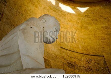 Santiago de Cuba Cuba - January 10 2016: Statue of Jose Marti from his mausoleum in Santiago. Santiago is the 2nd largest city in Cuba