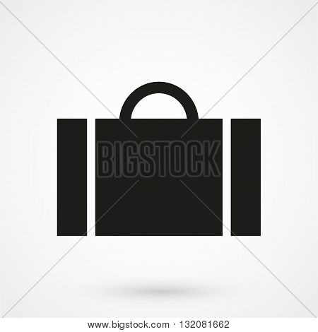 Bag Vector Icon Black On White Background