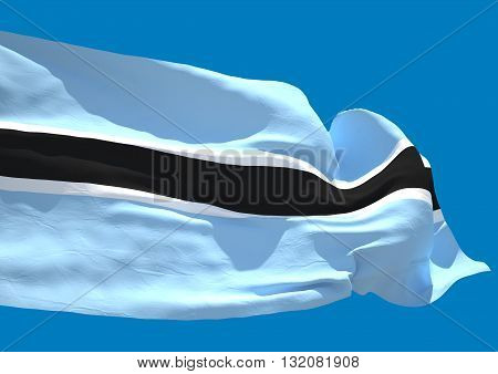 Botswana wave flag HD Republic of Botswana