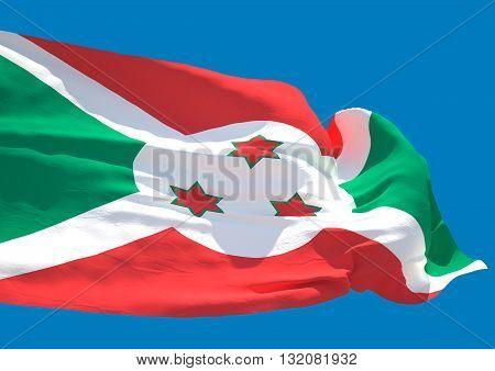 Burundi wave flag HD Republic of Burundi