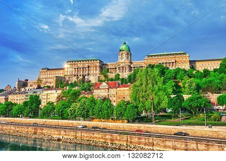 Budapest Royal Castle at morning time. Badapest.