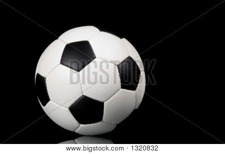 Soccer - Football On Black Background