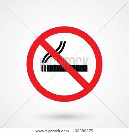 No Smoking Icon Black On White Background