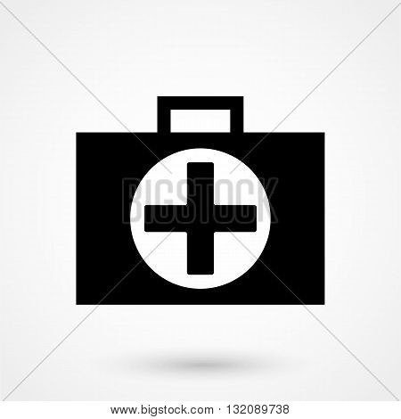 First Aid Icon Black On White Background