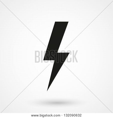 Energy Power Icon Black On White Background