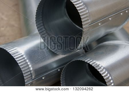 three galvanized pipe industry production at the plant
