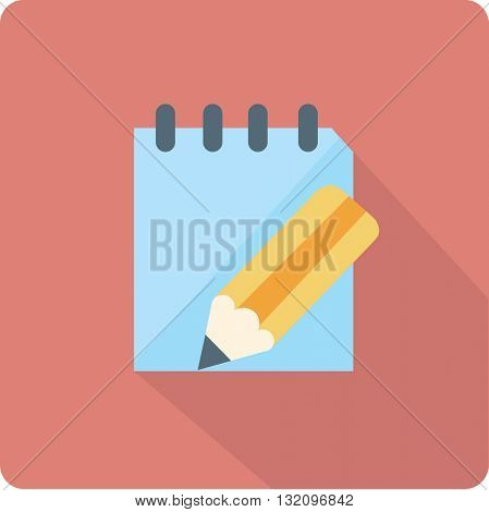flat pad and pencil icon