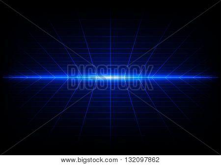 abstract grids on blue light background. illustration vector design