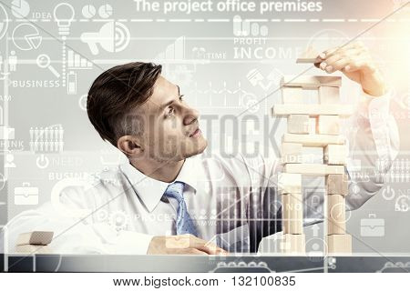 He is building his business