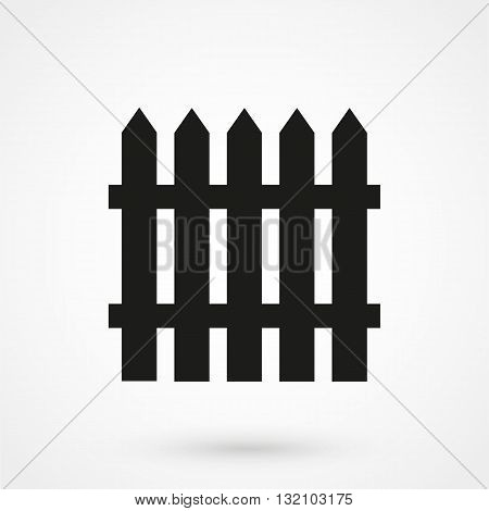 Fence Icon Vector Black On White Background