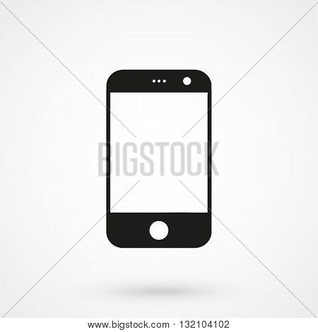 Smartphone Icon Vector Black On White Background