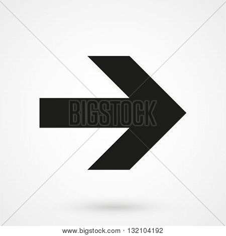 Arrowhead Right Icon Vector Black On White Background