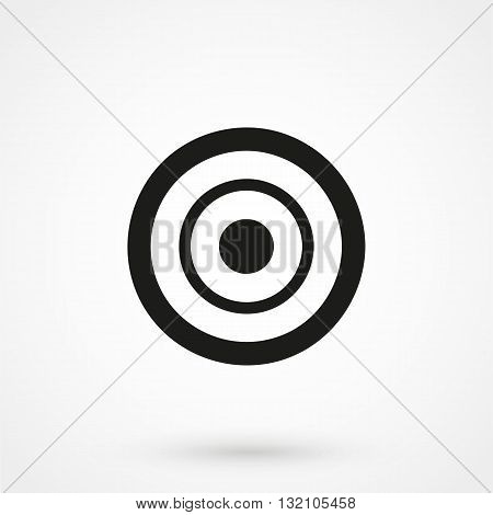 Target Icon Vector Black On White Background
