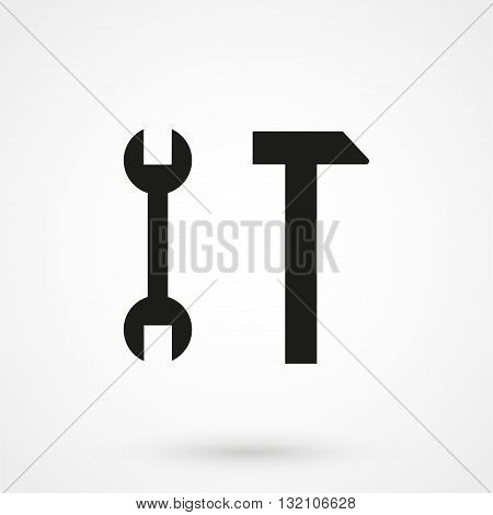 Tools Icon Vector Black On White Background