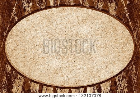 art grunge ellipse on brown pattern illustration background