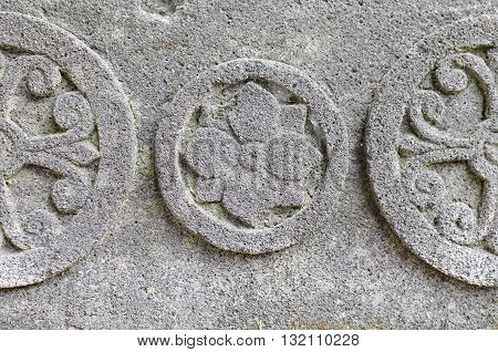 Chakra Symbol at Statue Base 8th - 10th century
