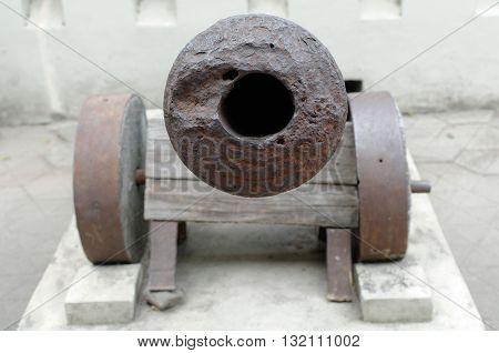 the old artillery cannon from 19th century
