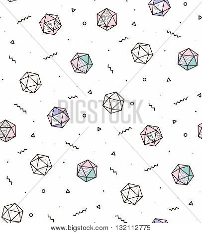 Modern pattern with diamonds and zigzags. Geometric pattern for modern fashion cover books cloth.