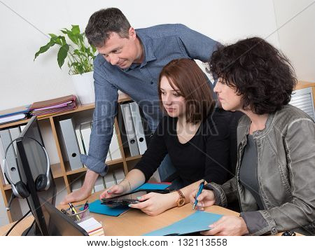 People In Business Meeting Working Together