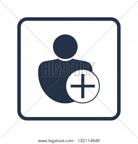 User Add Icon In Vector Format. Premium Quality User Add Symbol. Web Graphic User Add Sign On Blue R