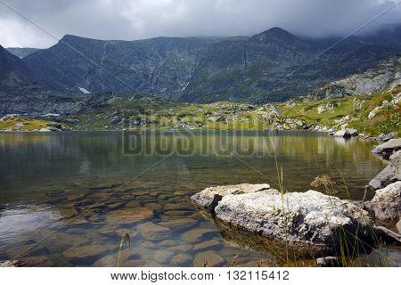 Panoramic view of The Trefoil, Rila Mountain, The Seven Rila Lakes, Bulgaria