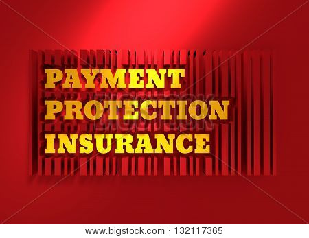 Buyer protection. Internet payments security. Bar code and text. 3D rendering
