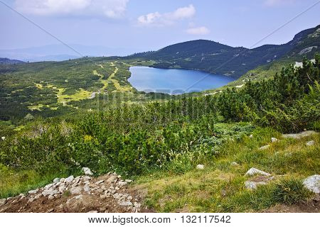 Panoramic view of The Lower Lake, Rila Mountain, The Seven Rila Lakes, Bulgaria