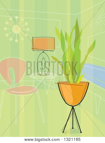 Retro Stylized House Plant