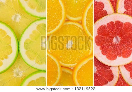 Fruit Mix Of Sweetie Fruit, Orange And Grapefruit