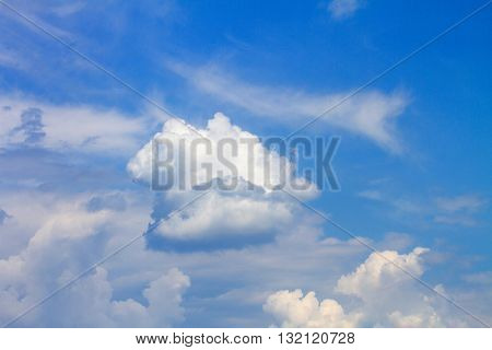 Image Phenomenon Of Nature White Clouds In The Blue Sky