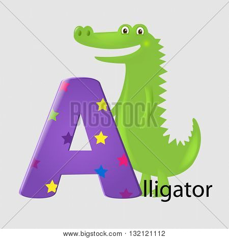 Alligator With Letter A