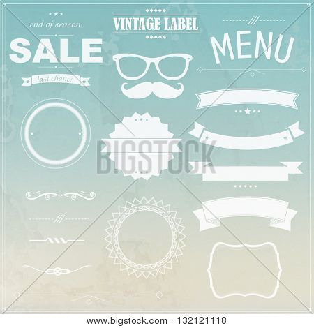 Grunge Background With Labels