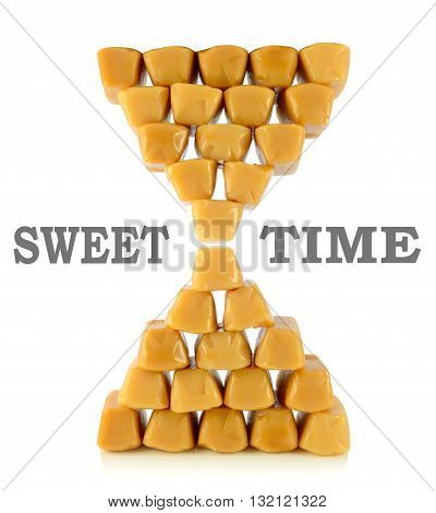 Caramel Toffees. Sweet Time Concept