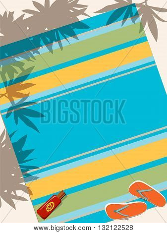 Beach towel vector background, no transparencies, ESP 8
