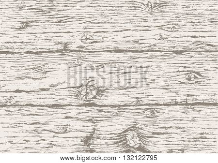 Gray wooden texture background. Hand drawn old wood board. Gray wooden horizontal planks background. Vector sketch.