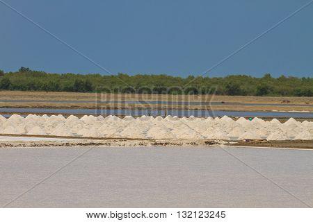 Salt in the Saline in rural Thailand