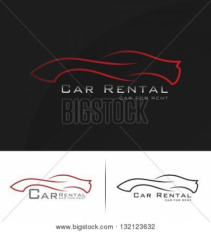 Car logo. Car rental logo. Logo template for car wash. Car service logo design. Vector illustration