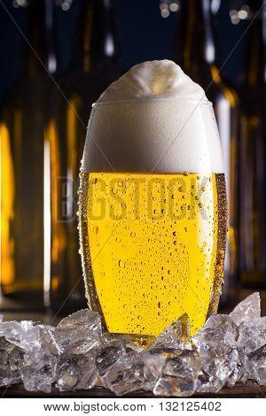 Frosty mug of beer, cool beer, nice beer