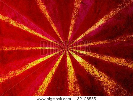 A red and yellow grunge starburst background