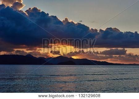Palawan Philippines Seascapes Sunset